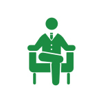 いすに座っている人間