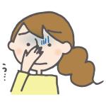 悪臭を感じて鼻を押さえている若い女性