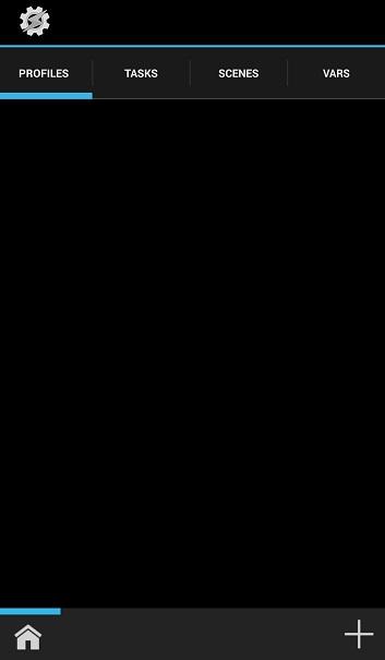 Taskerのプロファイル設定画面