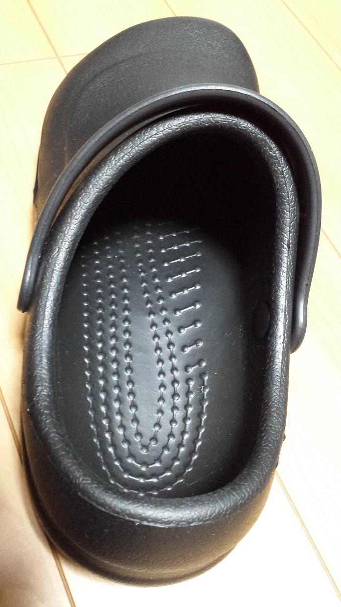 crocs bistro (クロックス ビストロ)の靴の内部の突起