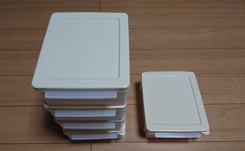 5個の食パン冷凍保存ケース