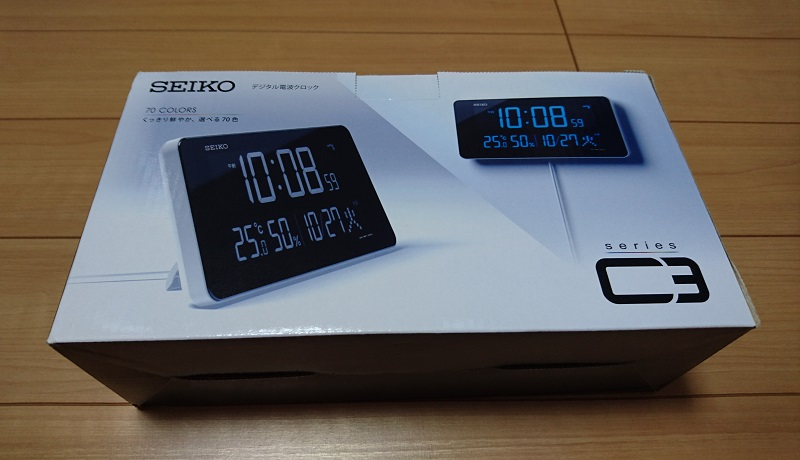 常時文字が光る時計 SEIKO DL208Wのパッケージ