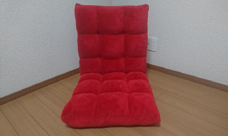 正面から見た赤い座椅子 100-SNC041