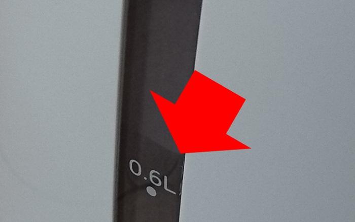 わく子 PCI-G120に注水時、側面にあるのぞき窓から見える水位の様子