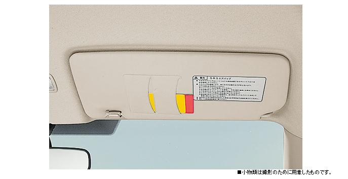 Honda Fitのサンバイザーに搭載されているチケットホルダー(チケットクリップ)
