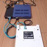 ヤマハのネットワーク機材 YPS-PoE-AT、WLX402、RTX1210を、静的なLink Aggregationで接続している様子
