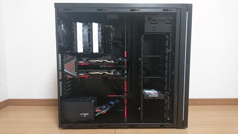 PCケースの内部の様子