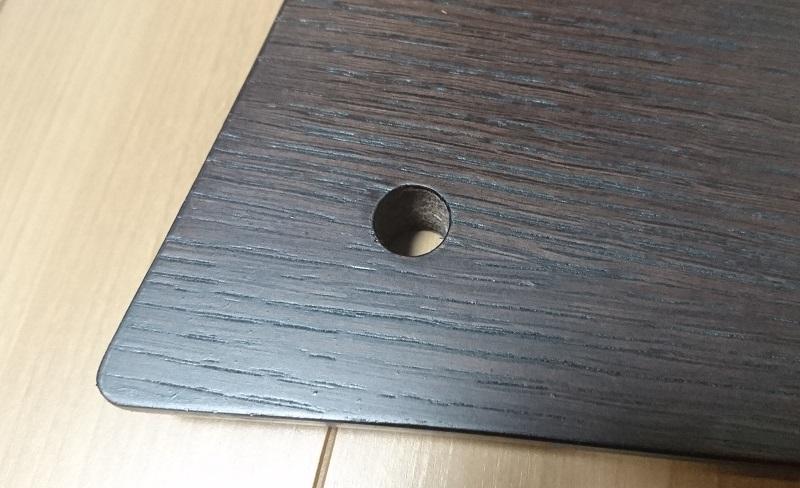 QUADRASPIRE Q4DSLB-DOの棚板に空いている支柱を通すための穴