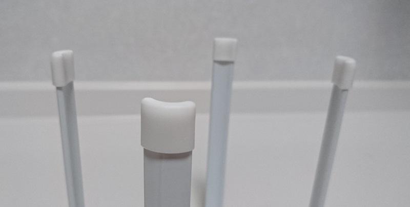 ポリ袋エコホルダーの支柱先端の滑り止め用のゴム