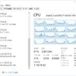 NVIDIA社のGeForce GTX1080のGPUを2つ搭載したPCのタスクマネージャー