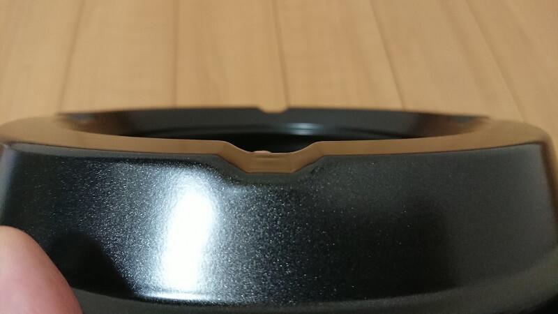 焼肉プレート CB-P-Y2の受け皿背面にあるくぼみ
