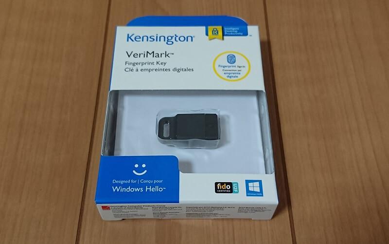 ケンジントン社のWindows Hello対応の指紋リーダー K67977JPのパッケージ