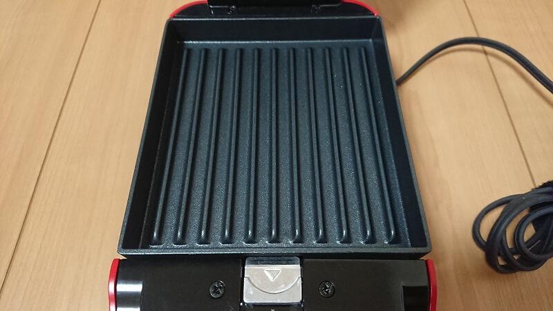Vitantonio VHS-10-TMの下側プレート部の様子